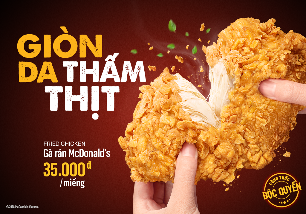 Try McDonald's New Fried Chicken - Crispy Skin, Well-marinated Meat